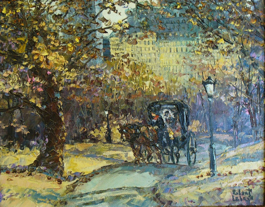 Robert Lebron Central Park 8x10 Oil on Board