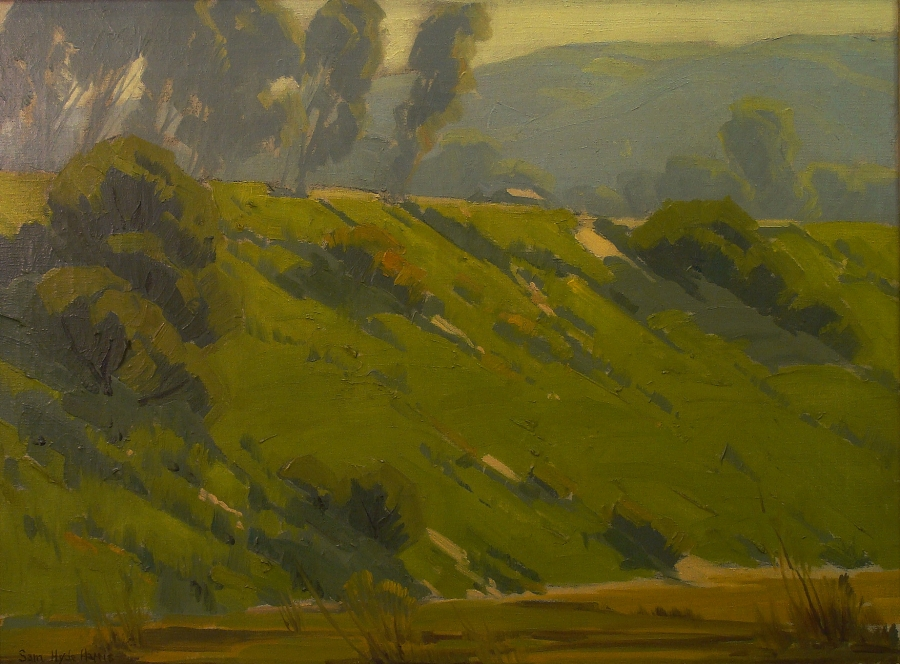 Sam Hyde Harris Trees on the Ridge 20x24 Oil on Canvas