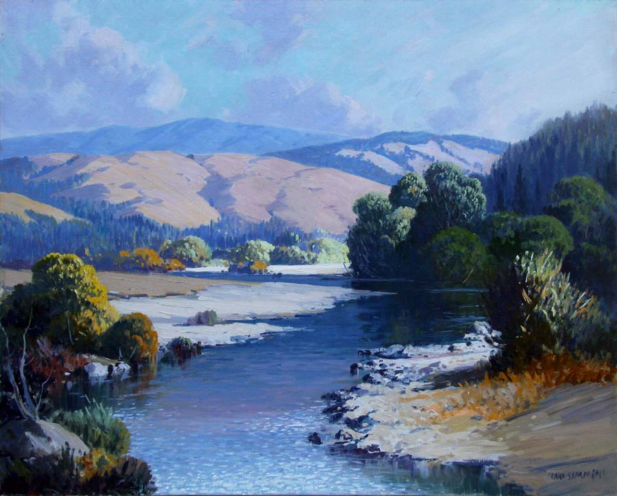 Carl Sammons Mattole River 24x30 Oil on Canvas