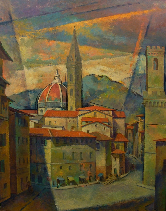 Sandor Klein Florence Italy 30x24 Oil on Board