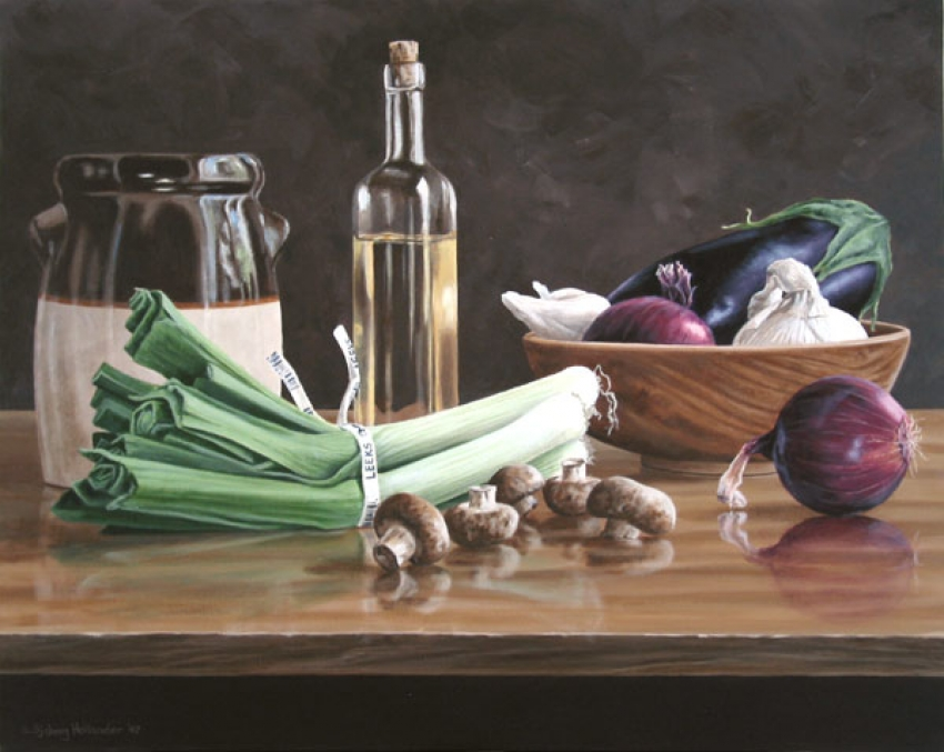 Still Life with Vegetables by Susan Sjoberg Acrylic Painting