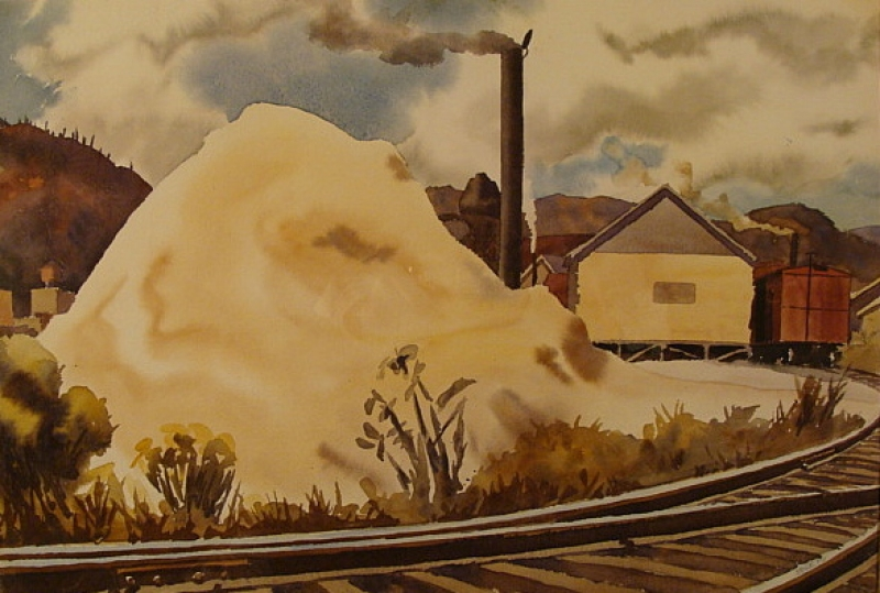 Sawmill by Standish Backus 15x22 Watercolor