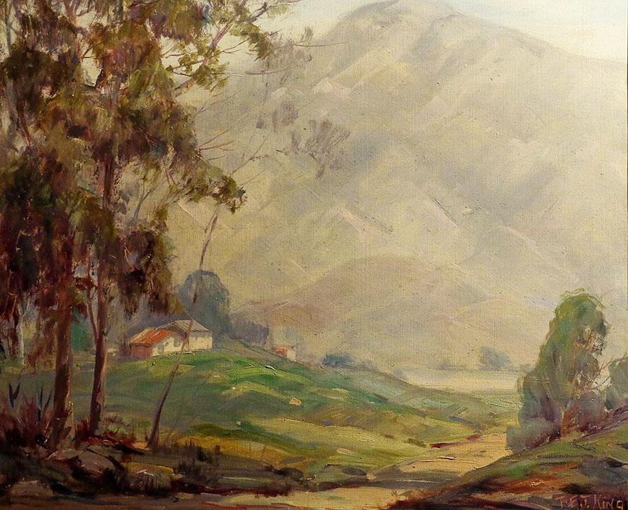 Thomas Ewing King Tucked Away 20x22 Oil on Canvas
