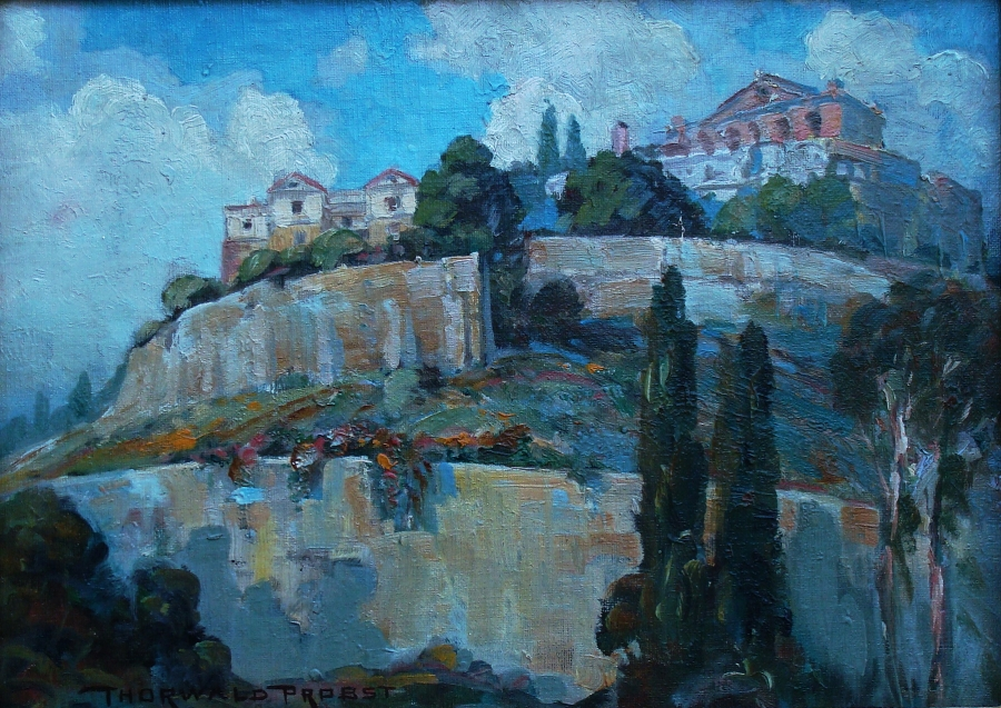 Thorvald Probst In Naples 11x13 Oil on Board