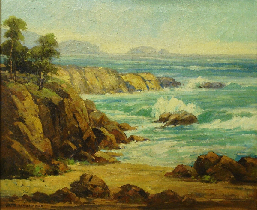 Walter Farrington Moses California Coast 25x30 Oil on Canvas