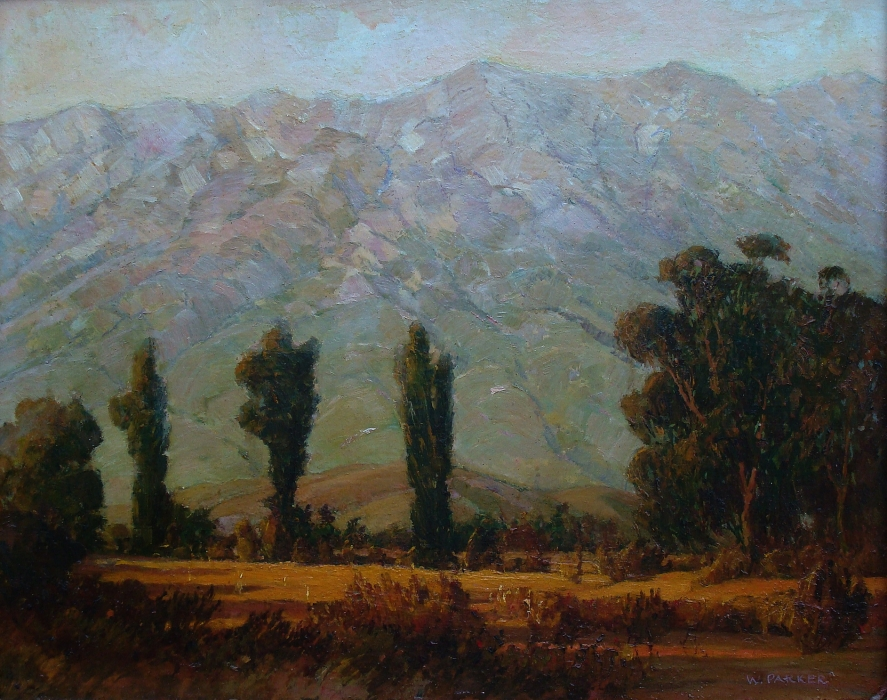 Walter Parker San Jacinto 16x20 Oil on Board