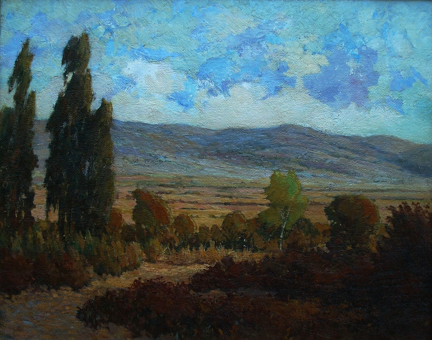 Walter Parker San Jacinto Hills 16x20 Oil on Board