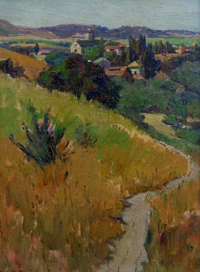 Willis Davis Carmel Valley 15x11 Oil on Canvas Board