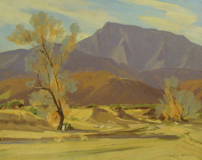 Wilton McCoy Desert Vista 16x20 Oil