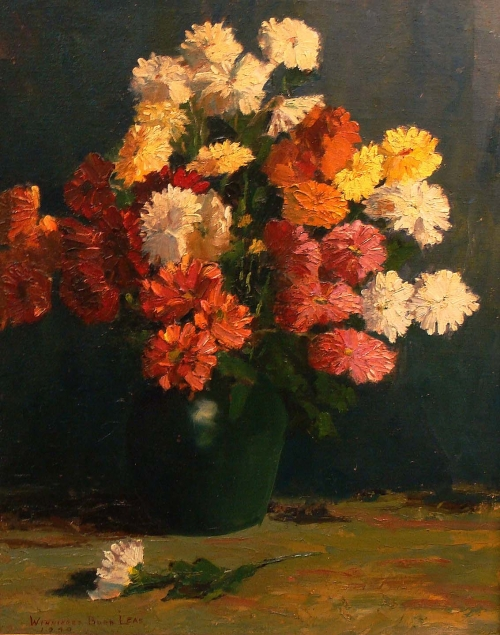 Winnifred Burr Floral Still Life 20x16 Oil on Board