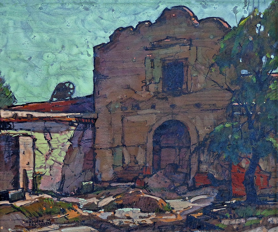 Eugene Frandzen San Diego Mission 10x12 Mixed Media