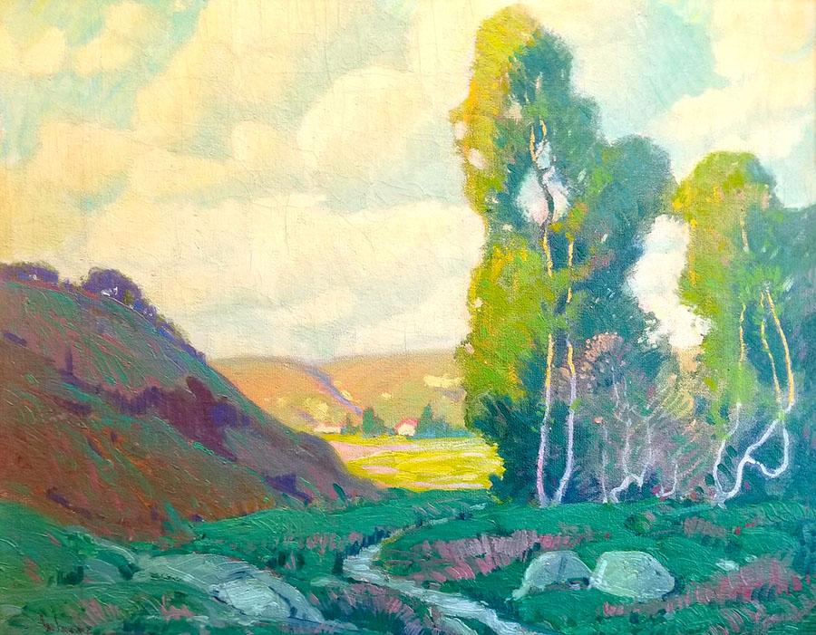 Paul Lauritz Eucalyptus Stand 19x24 Oil on Canvas