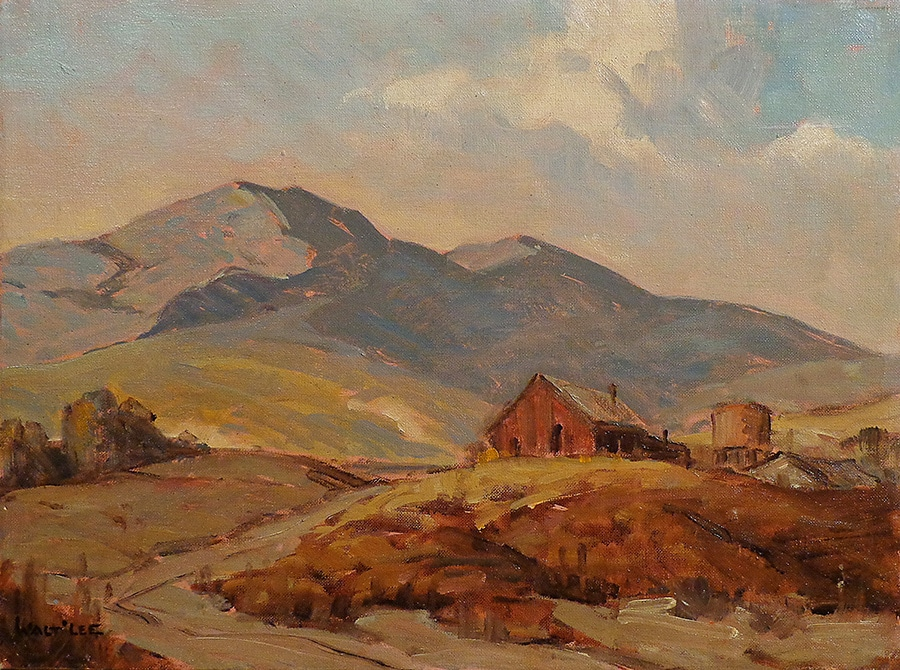 Walt Lee Down Bouquet Canyon 12x16 Oil on Canvas Board