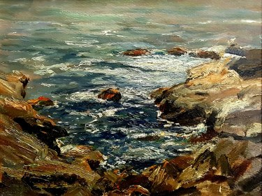 Dedrick R Stuber Laguna Coast 11x14 Oil on Board