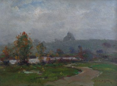Dedrick Stuber Mists at Beverly HIlls 12x16 Oil on Board