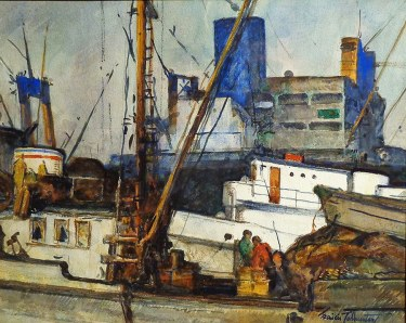 Francis Todhunter Fish and Freight 12x15 Watercolor