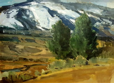 Frederick W Becker Sierra Foothills 12x16 Oil on Board