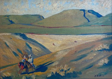 J. Hiller Canyon Riders 10x14 Oil on Board