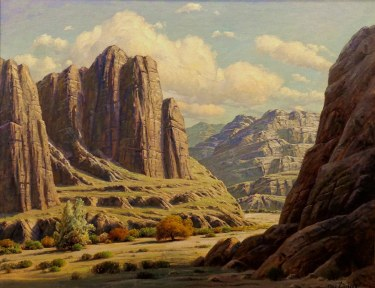 Paul Grimm Box Canyon 36x46 Oil on Canvas