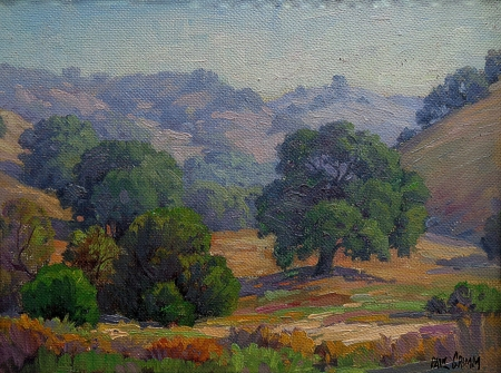 Paul Grimm California Oaks and Hills 12x16 Oil on Board