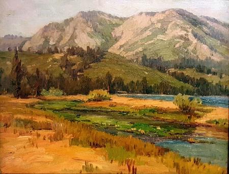 Benjamin C Brown California Foothills 11x14 Oil on Board
