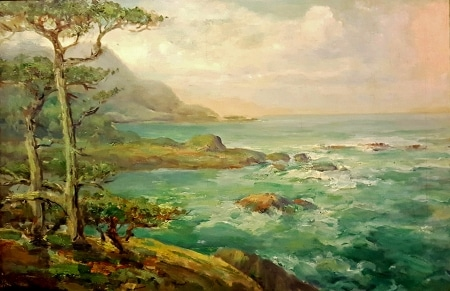 Charles Henry Harmon Coast Near Monterey 20x30 Oil on Canvas