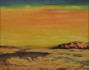 Elisabeth Schlussner Desert Wastelands 16x20 Oil on Canvas