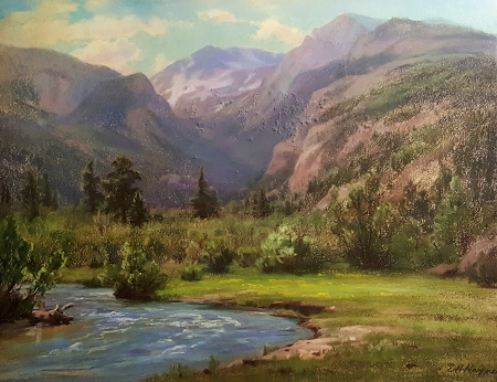 Elsie Haddon Haynes Sierra Meadow 16x21 Pastel on Board
