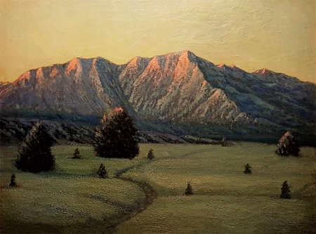 Ernest Browning Smith Sierra Snow 24x36 Oil on Canvas