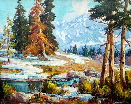 Eugene Dunlap Sierra Early Winter 30x36 oil on canvas