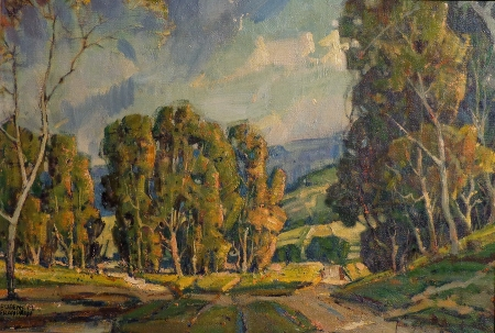 Eugene Frandzen California Rolling Hills 13x19 Oil on Canvas