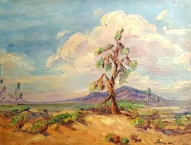 Eva R Vanloan Smith Desert Daydream 14x18 Oil on Board