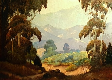 Frederick Wesley Jarvis Millard Canyon Pasadena 22x30 oil on canvas