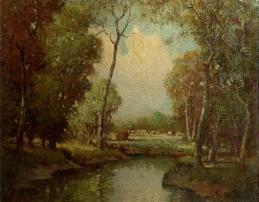 George Thompson Pritchard Forest Clearing 24x30 oil on canvas