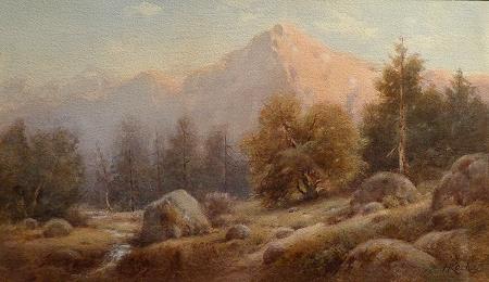 Henry Koch Sierra Landscape 12x18 Watercolor