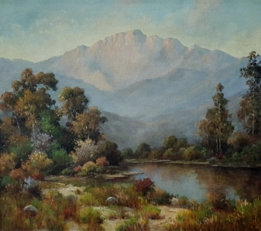 Herbert Sartelle San Gabriel Valley 24x30 oil on canvas