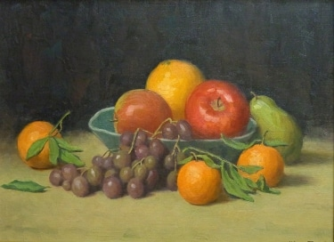 J. Mason Reeves Bowl of Fruit 12x16 oil on canvas