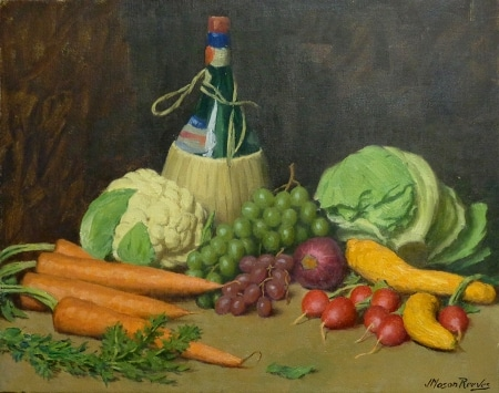 J. Mason Reeves Vegetable Medley 2 16x20 oil on canvas
