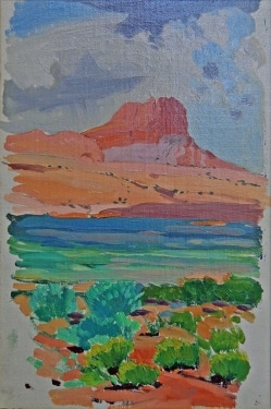 James Swinnerton Sketch of Monument Valley 12x8 Oil on Board