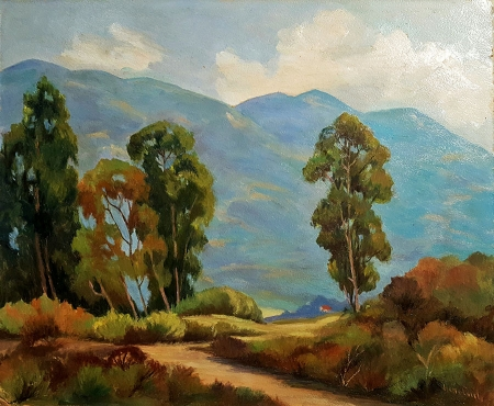 Jesse Everts Eucalyptus Grove 20x24 Oil on Board