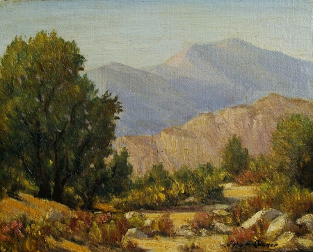John Anthony Conner Edge of the Desert 8x10 Oil on Board