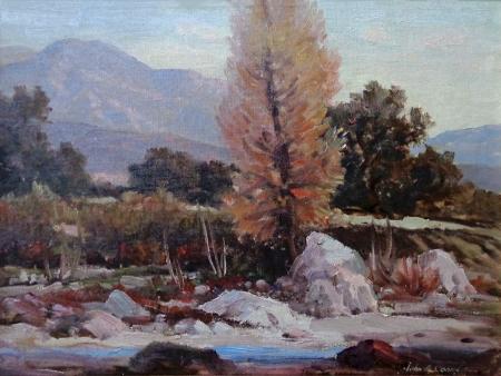 John Anthony Conner Little Tujunga Canyon near Sunland 12x16 Oil on Canvas Board