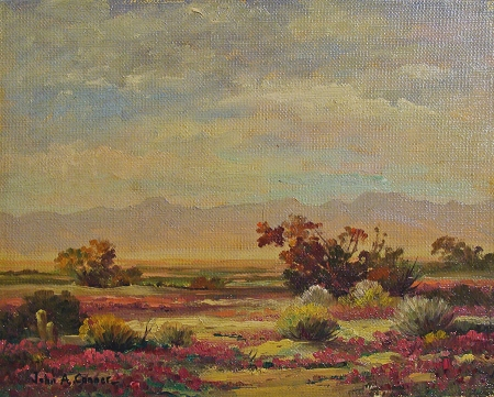 John Anthony Conner Desert in Bloom 8x10 Oil on Board