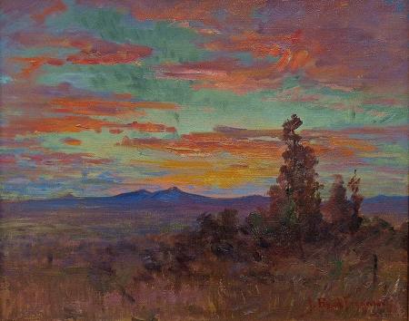 John Bond Francisco Sunset Albuquerque Oil on Canvas