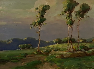 Karl Schmidt California Eucalyptus 12x16 Oil on Metal