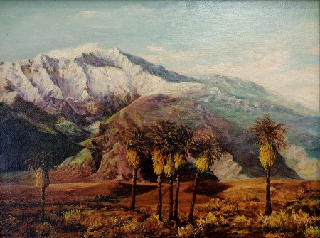 Karl Weidhofer Mount San Jacinto in Winter 12x16 Oil on Board