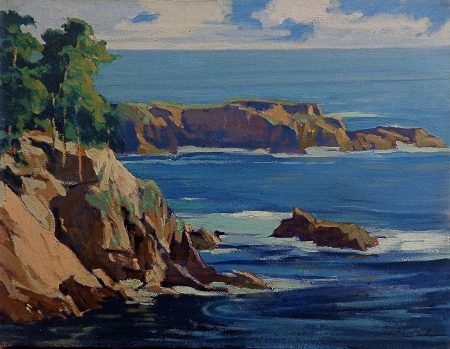 Louis Hovey Sharp California Coast 20x26 Oil on Canvas