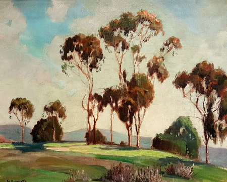 Mabel Burnette California Hilltop 16x20 Oil on Board