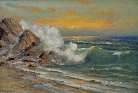 Nels Hagerup Northern California Coast 20x28 Oil on Canvas