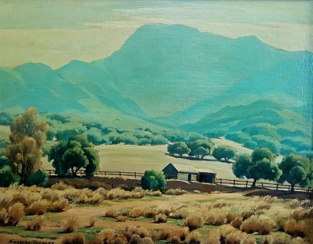 Norman Yeckley California Central Valley Farm 24x30 Oil on Canvas
